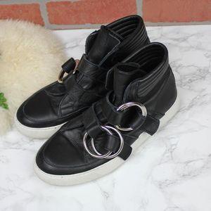 Bruno Bordese Black Ring Buckle Sneakers 39